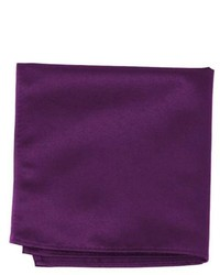 Jacob Alexander Solid Color Pocket Square By Eggplant Purple