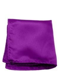 Jacob Alexander Solid Color Violet Purple Pocket Square By