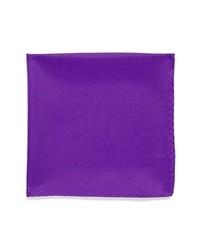 Original Penguin Bond Solid Silk Pocket Square Purple One Size