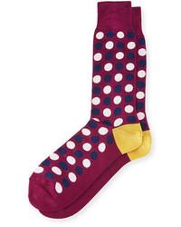 Paul Smith Bicolor Polka Dot Socks