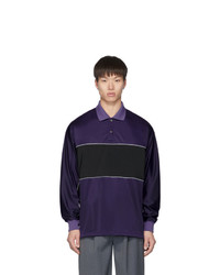 Name Purple Polo Long Sleeve Shirt