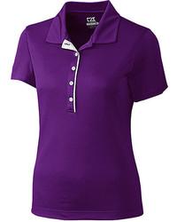 Purple drytech darcy polo medium 6453820
