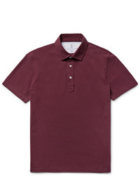 Brunello Cucinelli Slim Fit Cotton Piqu Polo Shirt
