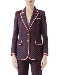 Gucci Geometric Logo Jacquard Jacket