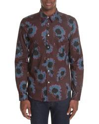 PS Paul Smith Flower Print Woven Shirt