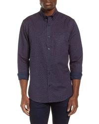 Nordstrom Men's Shop Slim Fit Non Iron Print Sport Shirt