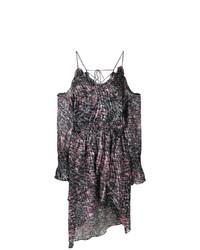 IRO Patterned Cold Shoulder Dress