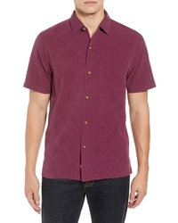 Tommy Bahama Pura Vino Embroidered Silk Sport Shirt