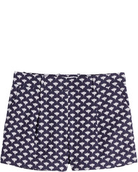 Diane von Furstenberg Stretch Cotton Printed Shorts