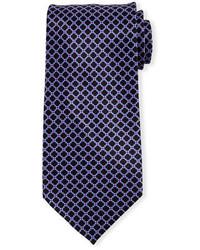 Stefano Ricci Neat Square Print Silk Tie