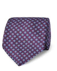 Canali 8cm Floral Silk Jacquard Tie