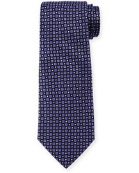 Armani Collezioni Textured Neat Circle Print Tie