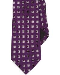 Ralph Lauren Black Label Box Print Neck Tie Purple