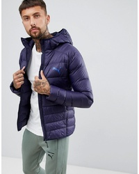 Puma Packable Hooded Jacket In Navy 85162106