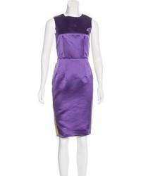 Dg satin sheath dress medium 6704717