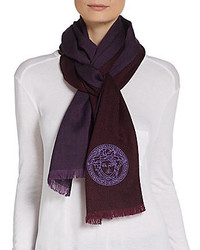 Versace Medusa Bicolored Wool Scarf