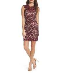 Sequin Hearts Sequin Lace Body Con Dress