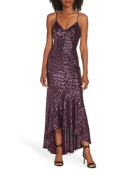 Vince Camuto Highlow Sequin Gown