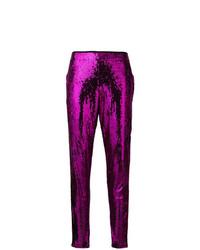Laneus Skinny Sequinned Trousers