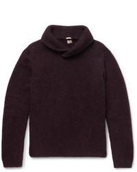 Massimo Alba Shawl Collar Alpaca Blend Sweater