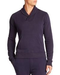 Wahts Cotton Cashmere Shawl Collar Sweater