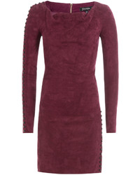 Dark Purple Sheath Dress