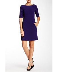 Dark Purple Shift Dress