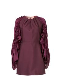 Roksanda Detailed Sleeve Mini Dress