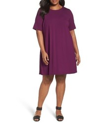 Eileen Fisher Plus Size Stretch Jersey Shift Dress