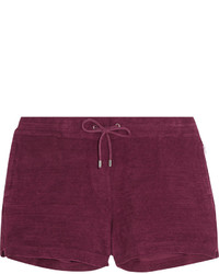 Orlebar Brown Carlita Cotton Terry Shorts Claret
