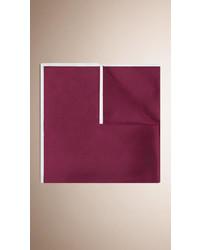 Burberry Contrast Border Silk Pocket Square