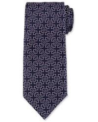 Diamond flower silk tie medium 1246487