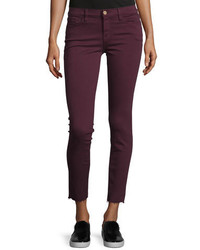 Le skinny de jeanne raw edge jeans mahogany medium 756681