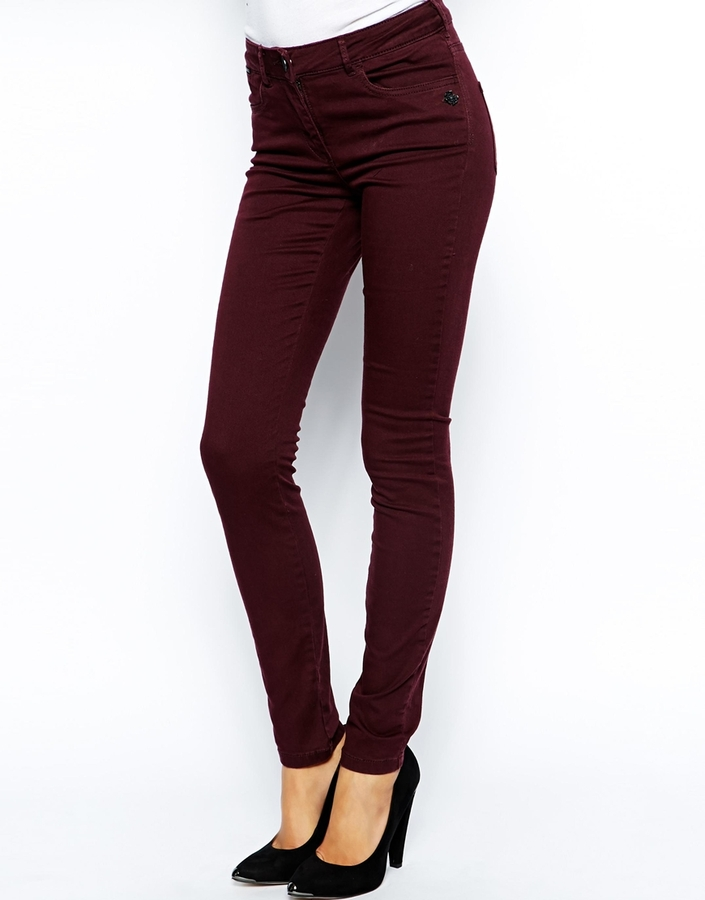 Maison Scotch Notgoogle 5 Pocket Skinny Jeans Purple | Where to ...