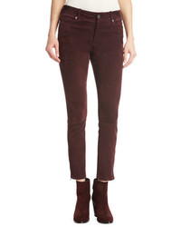 Loro Piana Mathias Suede Ankle Zip Pants