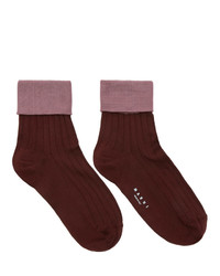 Marni Purple And Pink Silk Socks