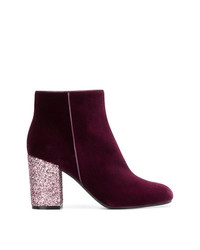 Pollini Glitter Heel Ankle Boots