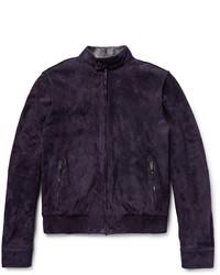 Tod's Iconic Suede Bomber Jacket