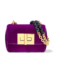 Tom Ford Natalia Mini Velvet Shoulder Bag