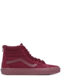 Men S Dark Purple High Top Sneakers By Vans Men S Fashion
