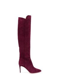 8750300f083 Dark Purple Knee High Boots for Women