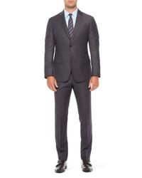 Emporio Armani G Fit Melange Check Wool Suit