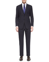 Paul Smith Mini Check Two Piece Wool Suit Blackpurple