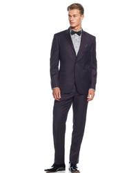 Tallia Burgundy Solid Slim Fit Suit