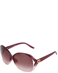 Gucci Gg Heart Ombre Sunglasses Violet