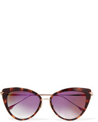 Dita Heartbreaker Cat Eye Acetate And Gold Tone Sunglasses Tortoiseshell
