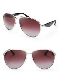 Prada Heritage Polarized Aviator Sunglasses