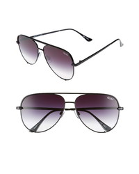 Quay Australia High Key 62mm Oversize Aviator Sunglasses