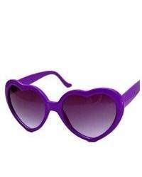 Ottoman Trade 8 Colors Vintage Retro New Fashion Lolita Heart Shaped Love Sunglasses Purple