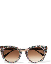 Thierry Lasry Snobby Cat Eye Acetate And Rose Gold Tone Sunglasses Purple